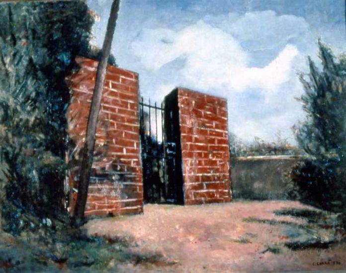 Carlo Carrà, Cancello rosso