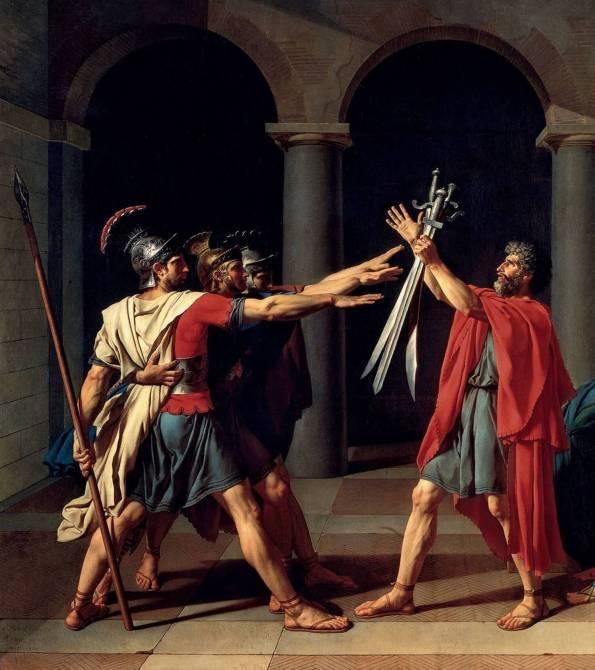 Давид. Клятва Горациев (фрагмент)