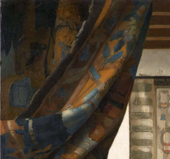 Вермеер. Аллегория живописи (деталь)