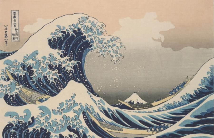 Фудзи в морских волнах Канагава