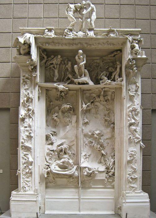 Огюст Роден. Врата Ада (гипсовая модель).