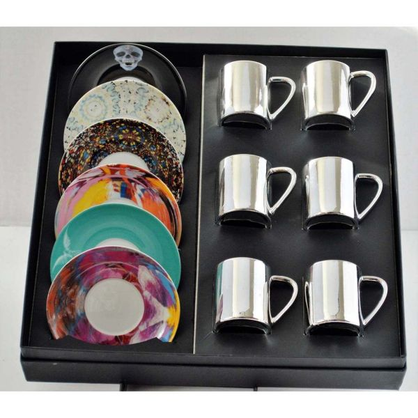 Hirst anamorphic expresso cups Contemporary Art for sale Worldwide