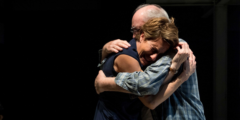 Empty (Tamsin Greig) and Gus (David Calder) embrace their differences