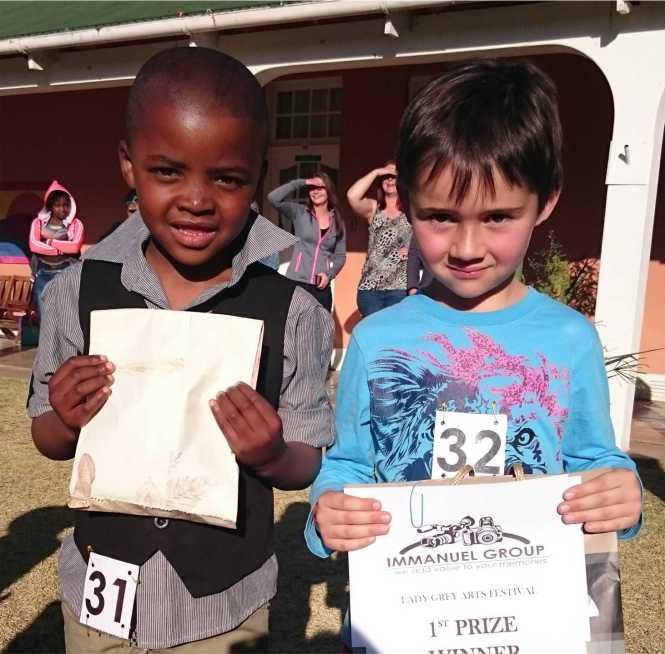 Boys 3-6 years (2nd Siyabonga Constable & 1st Owen van den Berg)