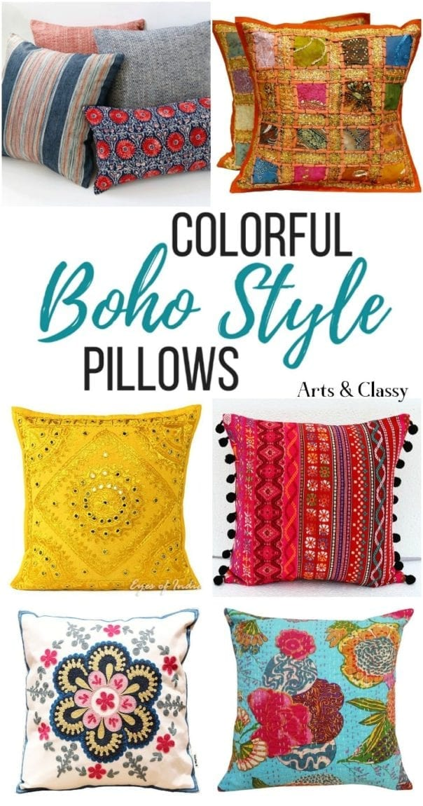 boho accent pillows get the look on