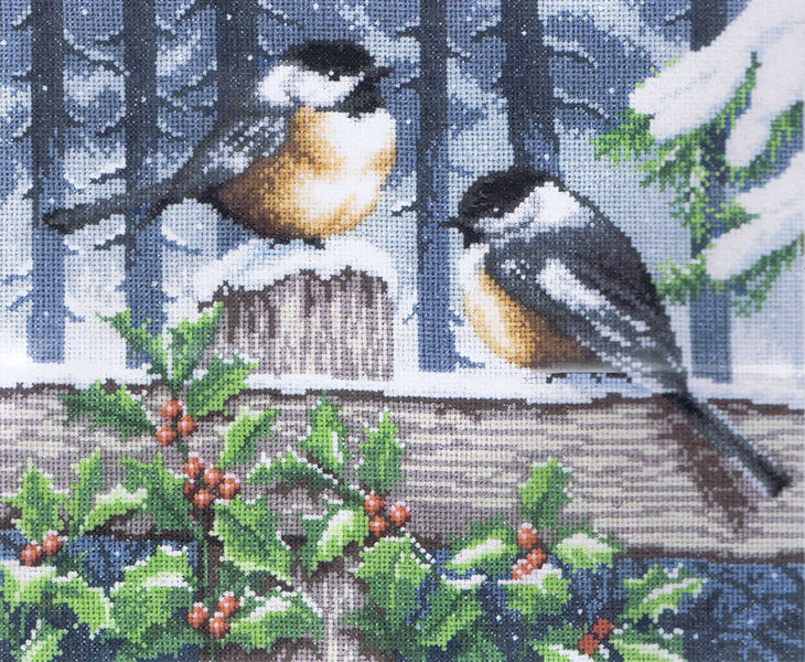 Winter Tits Cross Stitch Kit By Vervaco