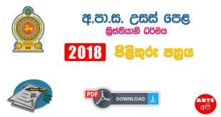 Advanced Level Christianity 2018 Marking Scheme