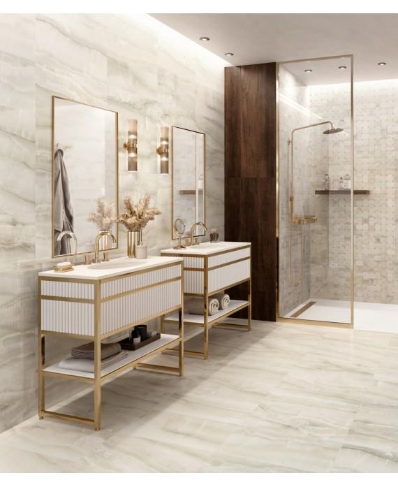 carrelage imitation marbre brillant