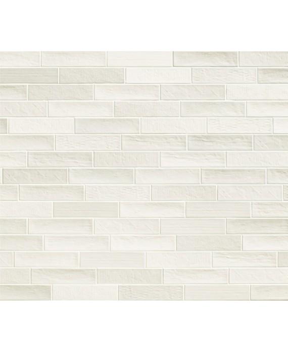 Carrelage Moderne Mural Blanc Mat Rectangulaire Natuchic 6 4x26cm Cotton