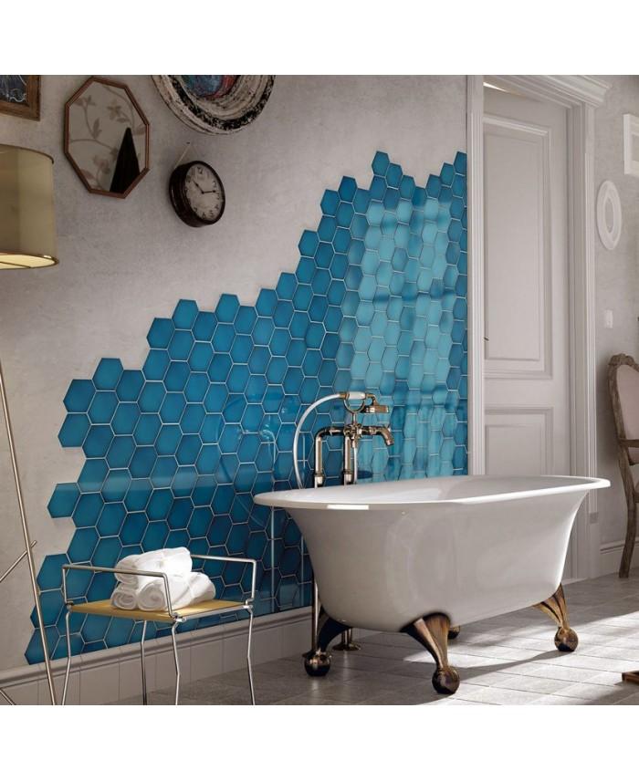 faience salle de bain hexagone