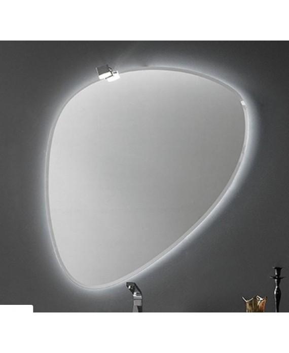 Miroir Salle De Bain Contemporain Ovale Sans Eclairage 90 3x98 5x2 6cm Compo Rock1 4141