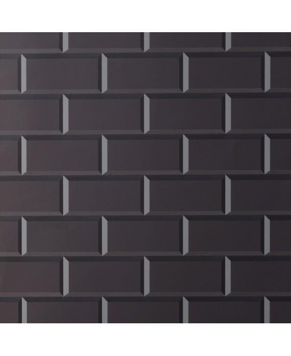 carrelage metro ex noir mat 7 5x15cm