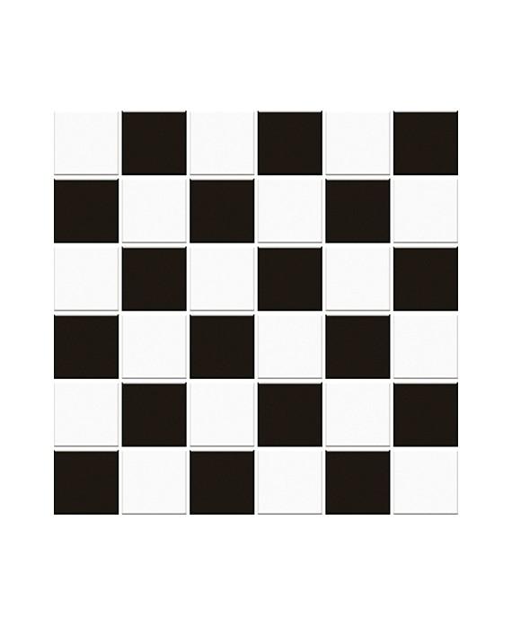 mosaique damier noir et blanc mat 5x5cm