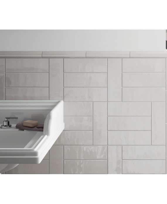 pieces speciales pour carrelage rectangulaire contemporain gris clair brillant equipcountry