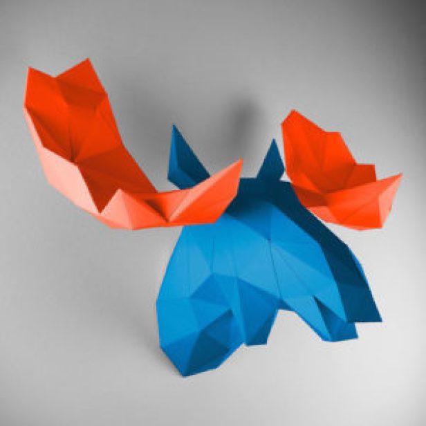 Paper-Animal-Trophies-4