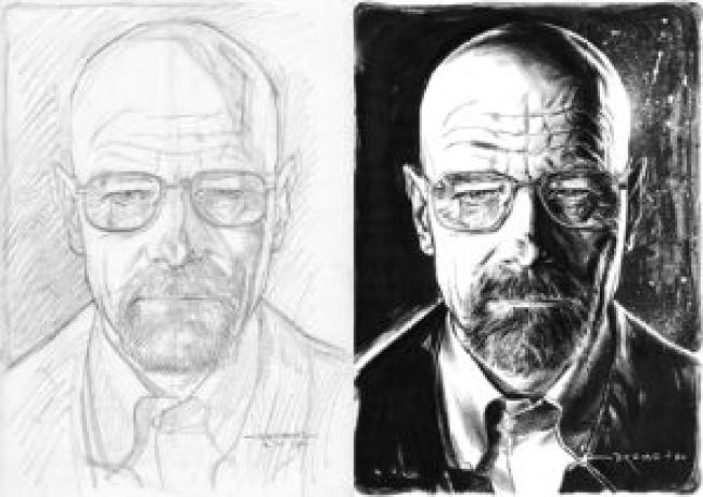 Process - From pencils to inks