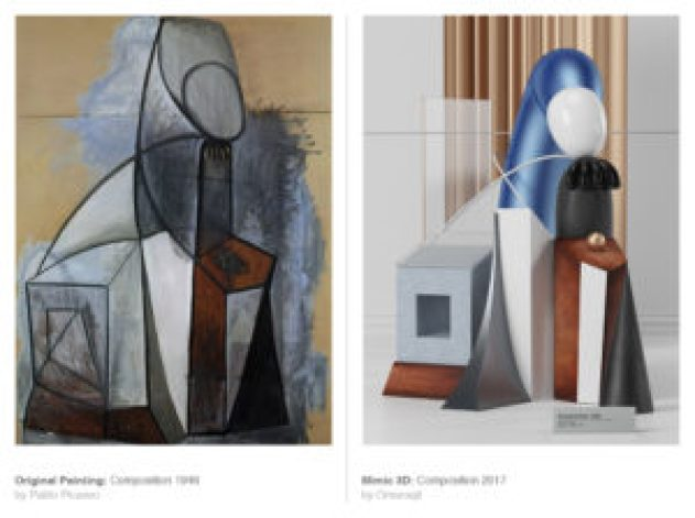 Picasso's works recreated 3D-6