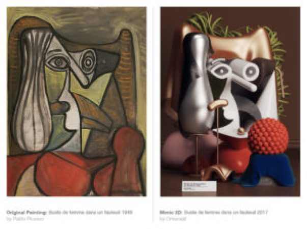 Picasso's works recreated 3D-7