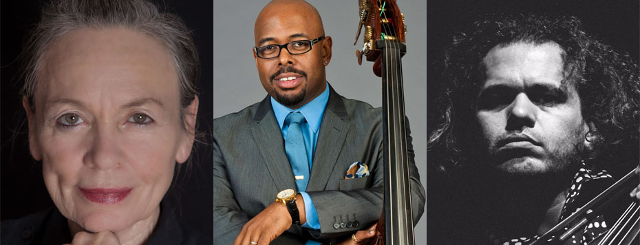 Laurie Anderson and Christian McBride with Rubin Kodheli