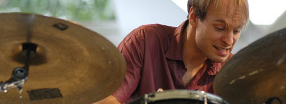 MUSIC | Drummer Ari Hoenig is known for his unusual and intense approach to drumming, emphasizing complex rhythms in direct harmony with other group members.