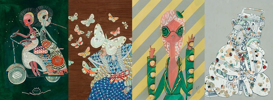 VISUAL   Hashimoto Contemporary is pleased to present Amongst Friends, an exhibition by Kelly Tunstall and Ferris Plock, also known as the artist collective KeFe.
