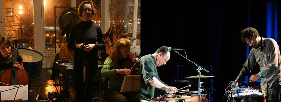 MUSIC | Tomography Fortunae is a three-movement graphic score for 7 musicians named Tom, by Polly Moller Springhorn. William Winant / Zachary James Watkins Duo create improvised landscapes playing percussion & electronics.