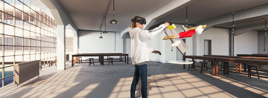 VISUAL | On the occasion of the Bauhaus centennial, the Goethe-Institut presents Virtual Bauhaus, an exhibition on the German school of art and design using innovative Virtual Reality technology.