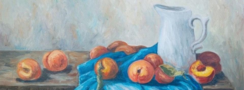 Peaches in Soft Pastel