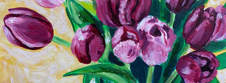 Vivacious Tulips Art Class with Lisa Wolfin (Fair Use)