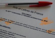 Concours Littéraire International 2018