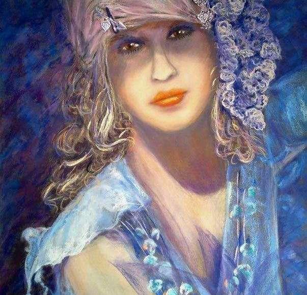 Claudette AUDRY Violette au chouchou