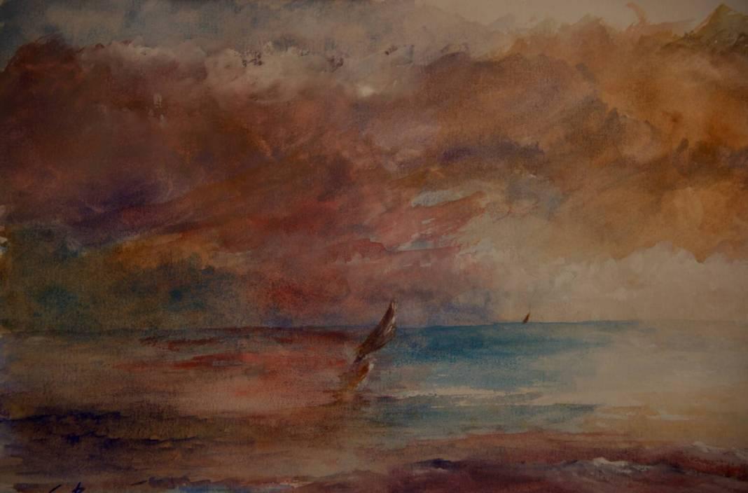 Christian Bruley - Aquarelle Marine 26X17
