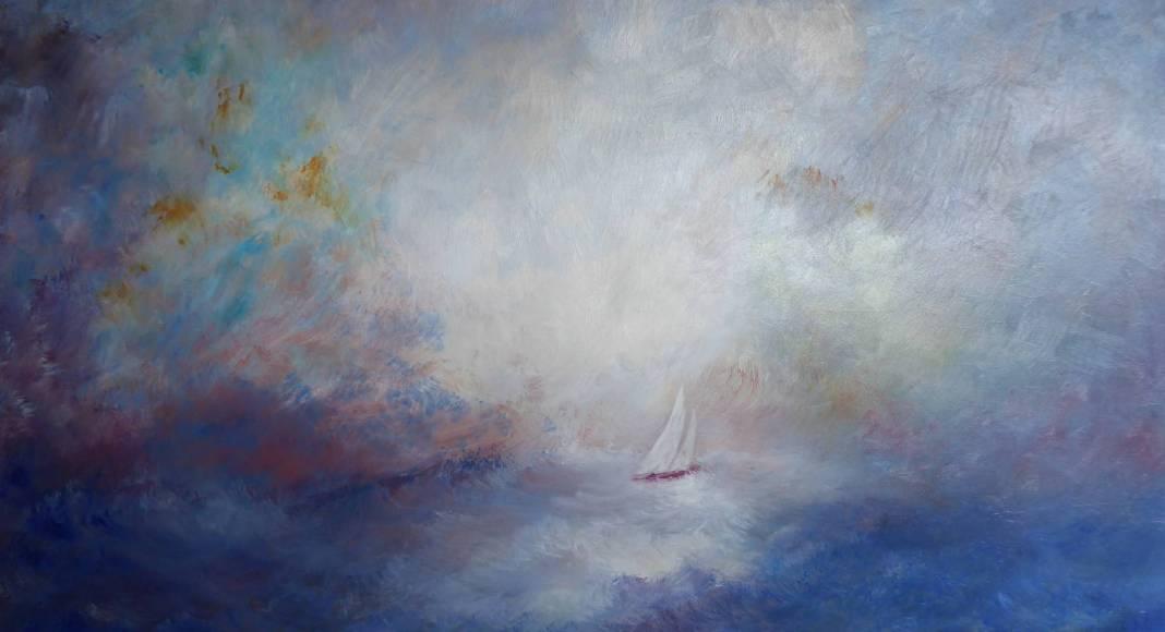 Christian Bruley - Voilier tempête 24X35