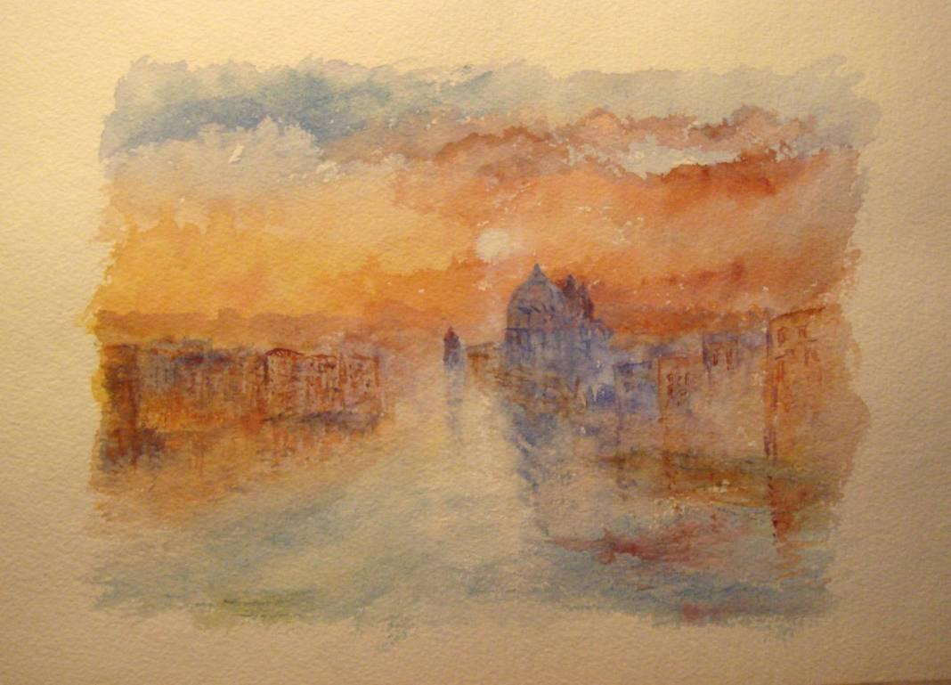 Christian Bruley - aquarelle Venise 23X17