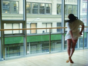 Artist Rebecca Serrell at Dance Theater Workshop.