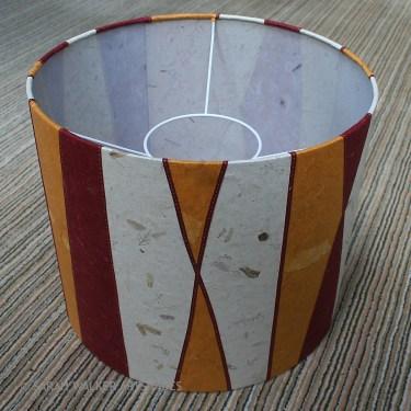 Striped floor lampshade