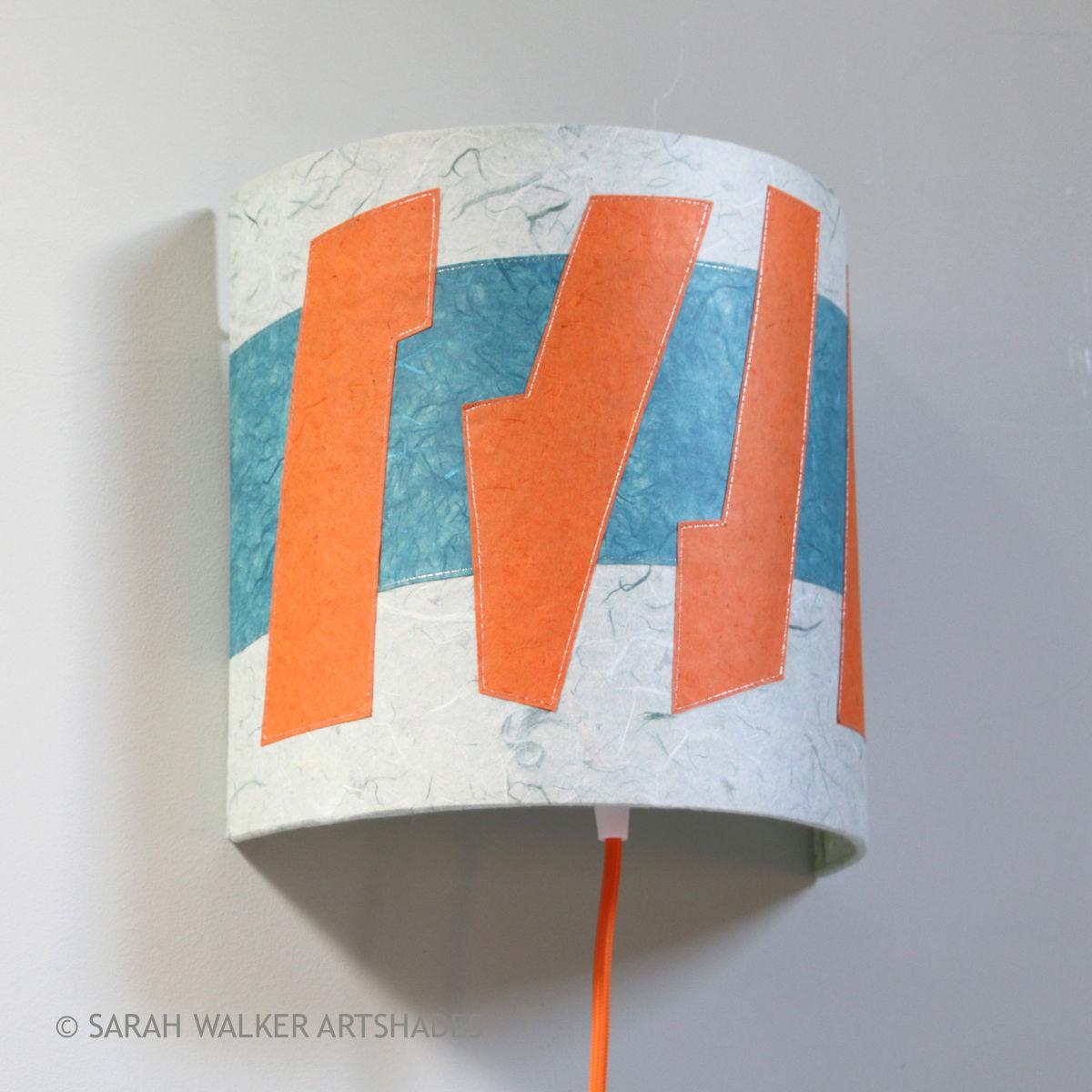 Orange And Teal Slim Lamp Shade Sarah Walker Artshades
