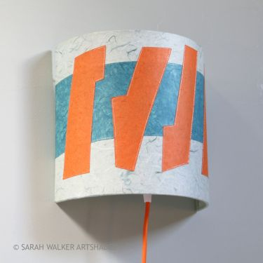 Orange and Teal wall shade