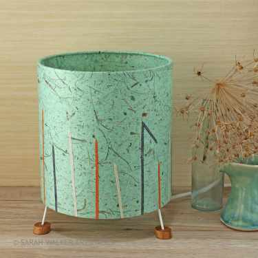 Mint green grasses lamp