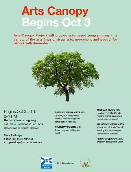 Arts Canopy Project  sc 1 st  Arts Health Antigonish & Blog | AHA!