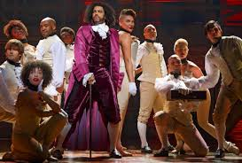 Daveed Diggs and the company of Hamilton (Photo by Joan Marcus)