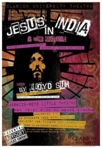 Poster for Jesus in India at Clarion University