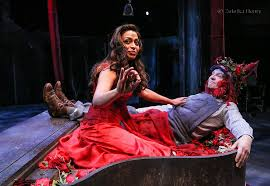 Ayesha Darker and Chris Clarke in A Midsummer Night's Dream at The RSC (Photo by Zuleika Henry)