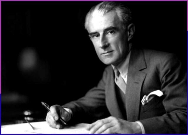 Maurice Ravel composing