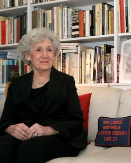 Ada Louise Huxtable, patron saint of NYC architecture critics Photo by Melanie Flood for New York Observer