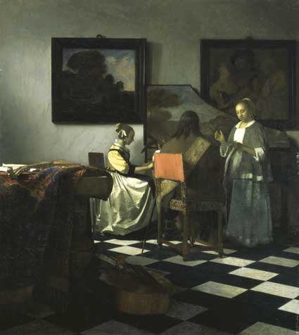 """Wanted: Vermeer, """"The Concert,"""" 1658–1660  Isabella's first major acquisition"""
