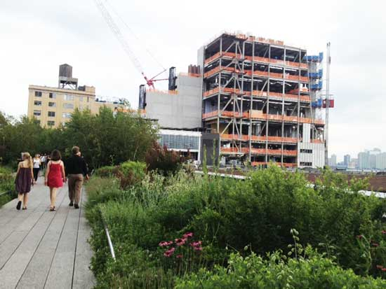 The in-construction Whitney, as seen from the High Line Photo by Lee Rosenbaum