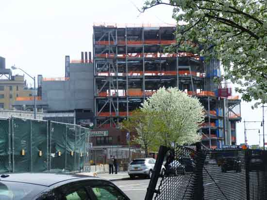 View of north side of the in-construction Downtown Whitney April 2013 photo by Lee Rosenbaum