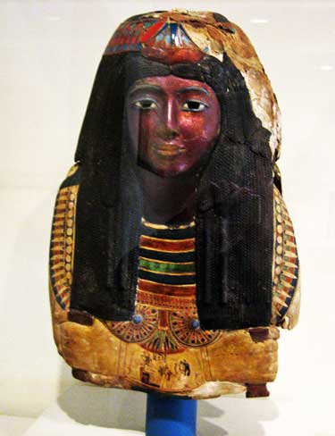 Mummy Mask of the Lady Ka-nefer-nefer, Egyptian, Dynasty 19 (1295-1186 BC), St. Louis Art Museum Photo by Lee Rosenbaum