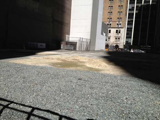 Vacant lot where Jean Nouvel tower (including three floors for MoMA galleries) will soon rise Photo by Lee Rosenbaum